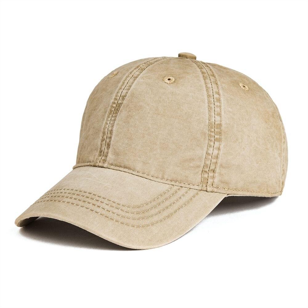 Gorra de béisbol de algodón lavada VOBOOM con agujeros de aire para hombres, gorra ajustable de Golf para papá, gorra de protección solar de primavera y verano caqui 161