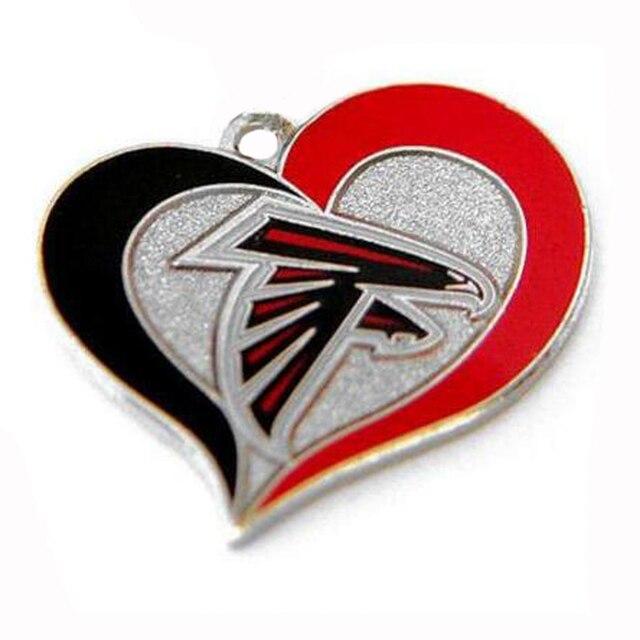 New Arrival Rhodium Plated Atlanta Falcons Football Team Logo Swirl