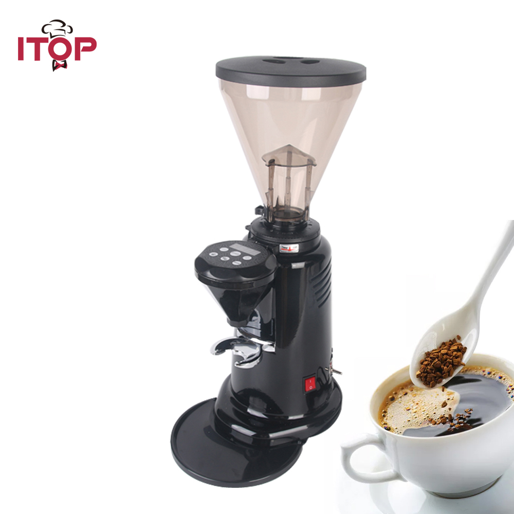 ITOP Commercial Coffee Grinder Coffee Bean Milling Machine Professional dispenser Electric Heavy Duty Coffee Burr Grinders 2017 new women flower flats slip on cotton fabric casual shoes comfortable round toe student flat shoes woman plus size 2812w page 2
