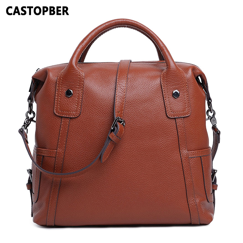 Designer Fashion European And American Style Women Handbag Tote Crossbody Bag Genuine Leather Shoulder High Quality Famous Brand hot sale european and american fashion men genuine leather famous kpaullon brand shoulder handbag designer mens messenger bag