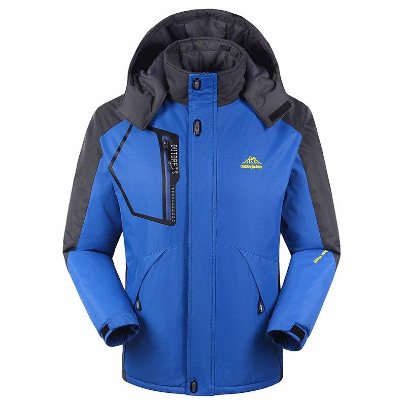 ФОТО Winter  Outdoor Large Size Softshell Wool Hiking Jackets Men Women Waterproof Breathable Fleece Coat Windbreaker Sportswear 1688
