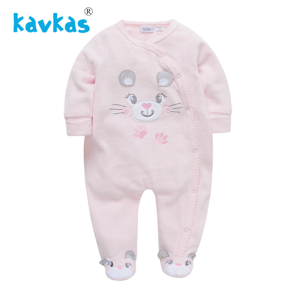 Kavkas Baby   Rompers   Body suits Cover Newborn Boys Girls One-pieces Clothes Baby Winter Sleepsuits Ropa Bebes Clothing