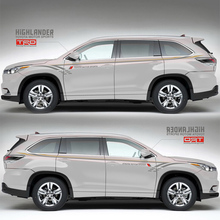 World Datong Sport Stripes Car Stickers For Toyota Highlander Auto Body Customized Decal Exterior stickers