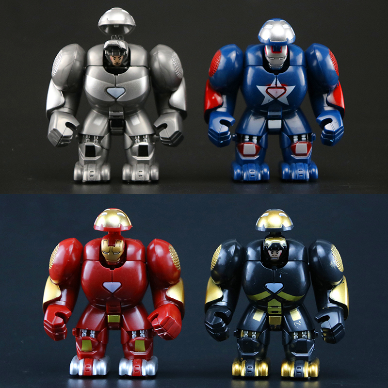 Marveled Super Heros Captain America Iron Man Blocks Action Figures