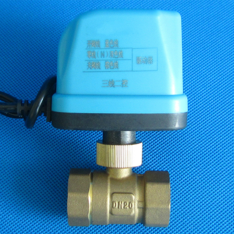 Banjo Electric 3 Way Directional Ball Valve: DC5v DN15 DN50 Electric Ball Valve Brass Motorized Ball