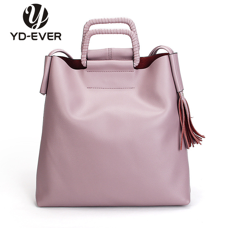 Large Leather Shopping Tote Bag, Silver