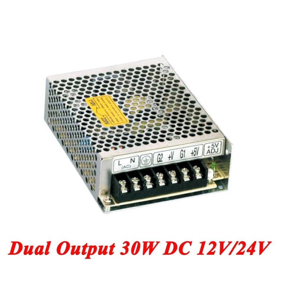 D-30C Double output DC power supply 30W 12V/24V,smps power supply for led driver,AC110V/220V Transformer to DC 12V/24V dc power supply 36v 9 7a 350w led driver transformer 110v 240v ac to dc36v power adapter for strip lamp cnc cctv
