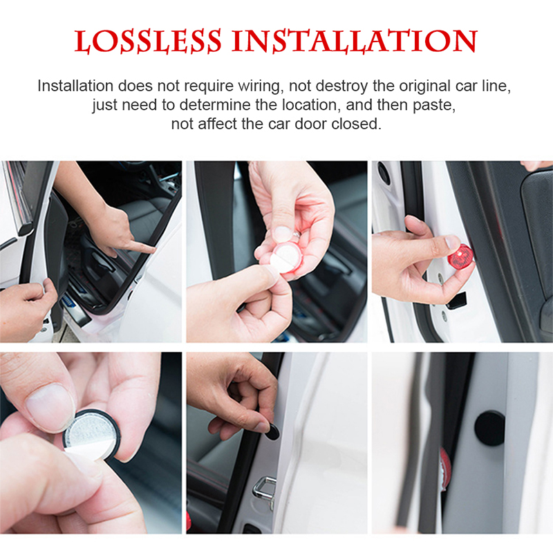 ZDPARTS Car Door Warning Signal Light LED Wireless Avoid Crash For Toyota Corolla Avensis Rav4 c-hr VW Passat B6 B5 Polo Jetta