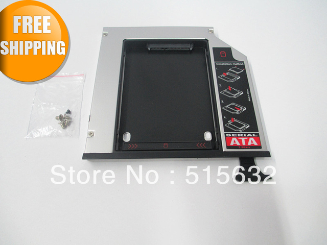 Novo totalmente Aluminum2nd SSD HDD Hard Drive Caddy para Dell E6400 E6500 E6410 E6510 M2400 M4400 M4500