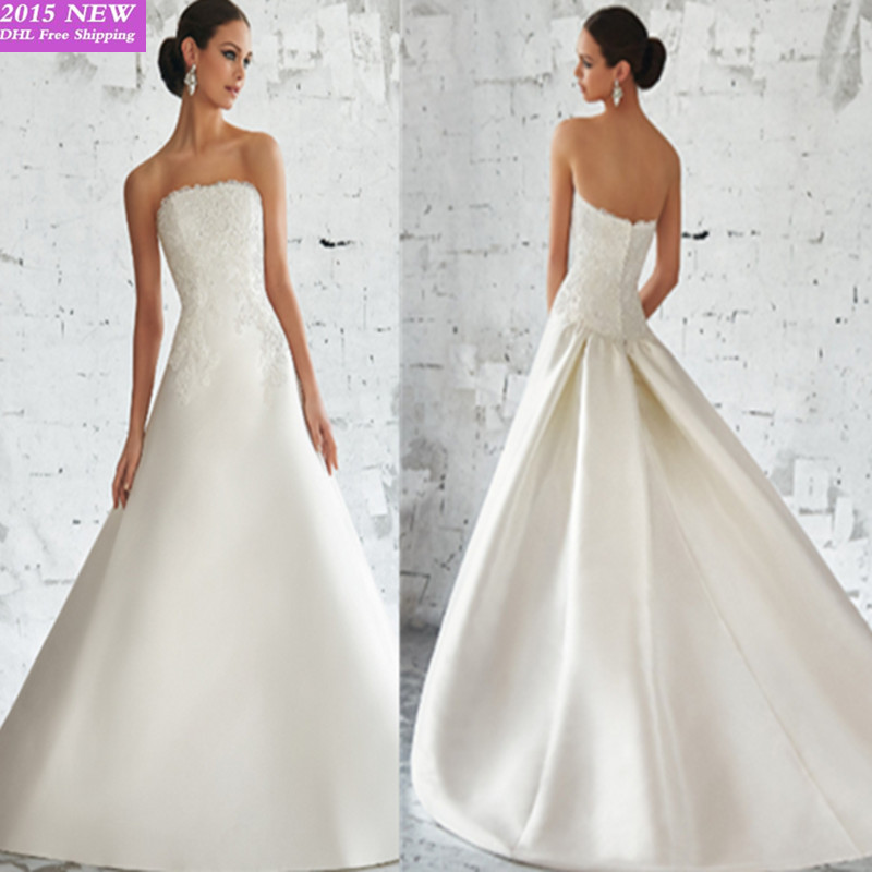 vestido de noiva 2015 Simple A line Wedding Dress Top Quality ...