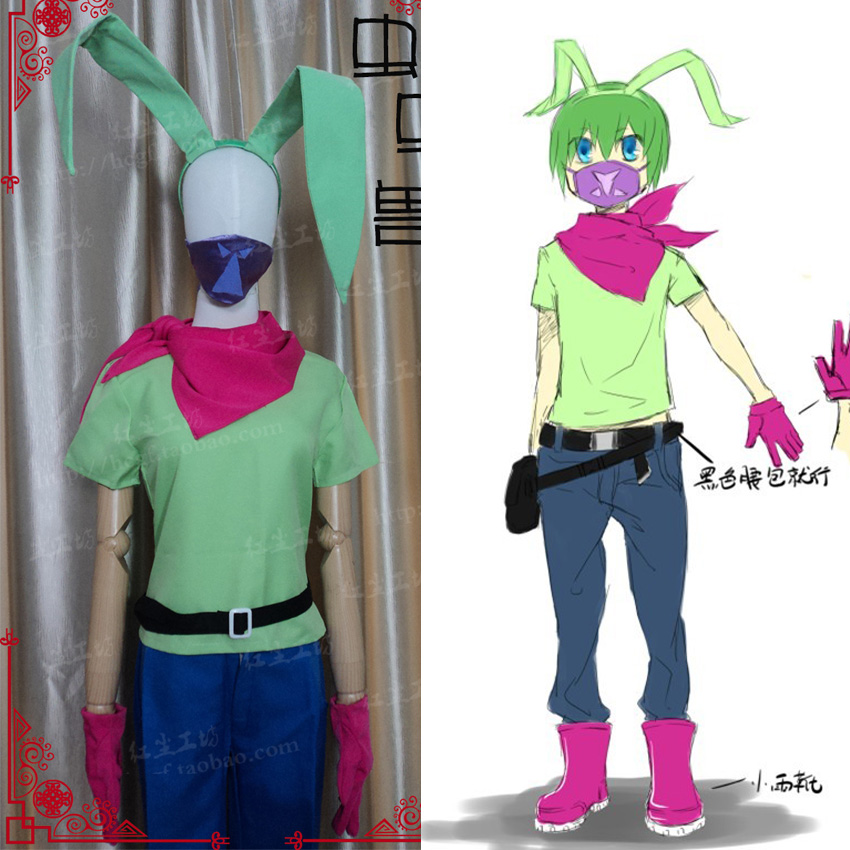 Free Shipping Digimon Adventure Wormmon Cosplay Costume Custom Made