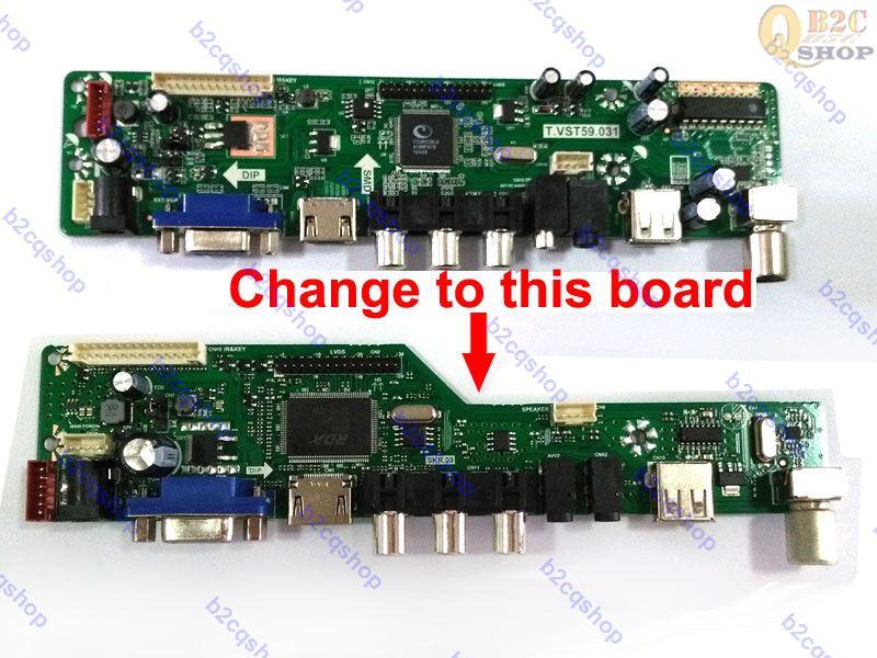 HDMI+AV+VGA+TV+USB VST29 LVDS LCD Driver Board Kit Diy Monitor controller kit