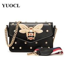 New Bee Pearl Women Crossbody Messenger Bags Shoulder Leather Handbags For  Famous Luxury Brand Designer Bolsa 062dc018ac1d