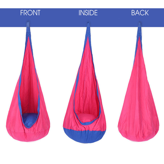 Wonderful Children Cotton Hammock Pod Swing Chair Kid Hanging Seat Portable Camping Furniture  Hang Bed Children Indoor