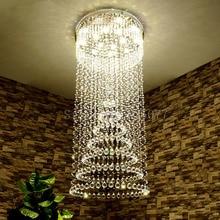 DHL Living room spiral crystal chandeliers Dia1000*H2300mm hotel hall led ceiling light villa JF1296