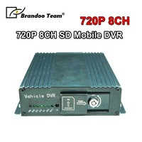 720P 8 Channel MDVR Dual SD Card Mobile DVR 8CH Car DVR For Taxi Bus Vehicle Truck Used