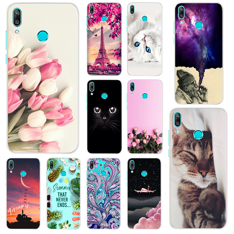 Cartoon <font><b>Case</b></font> For <font><b>Huawei</b></font> <font><b>Y7</b></font> <font><b>2019</b></font> <font><b>Case</b></font> Soft Silicone TPU Back Cover For <font><b>Huawei</b></font> <font><b>Y7</b></font> <font><b>2019</b></font> Coque <font><b>Huawei</b></font> <font><b>Y7</b></font> <font><b>2019</b></font> Dual Y 7 DUB-LX3 Capas image
