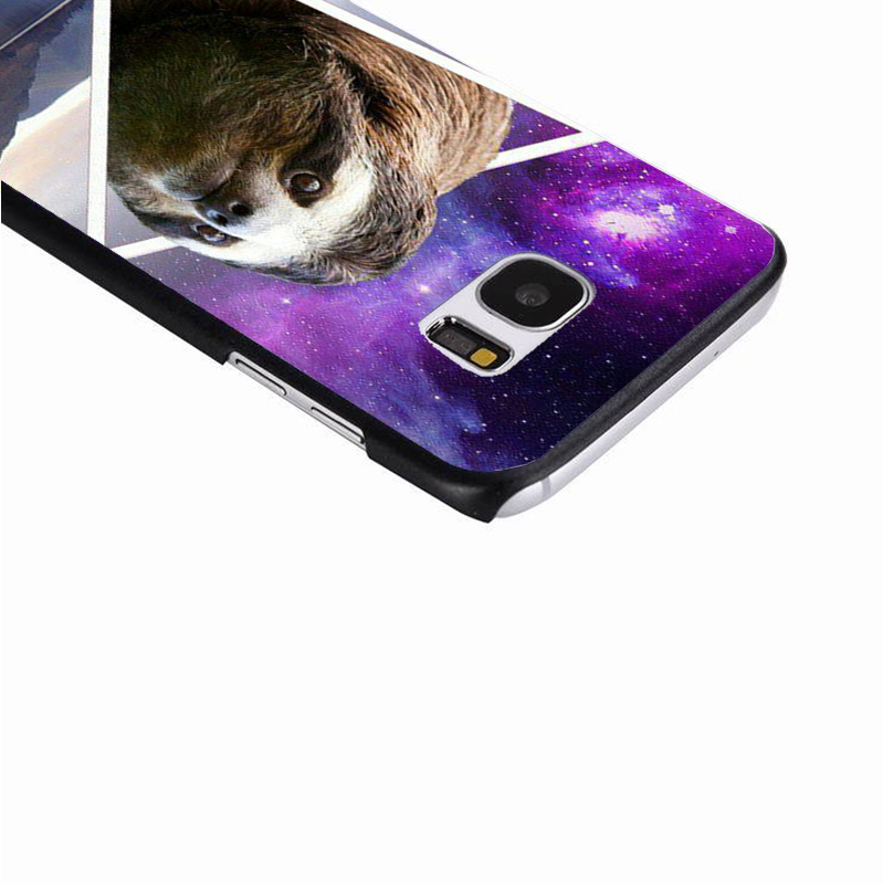 LvheCn phone case cover For Samsung Galaxy S3 S4 S5 mini S6 S7 S8 edge plus Note2 3 4 5 7 8 Sloth Magical Sky Star Space Art