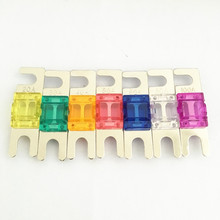 5PCS/LOT Nickel Plated Car Audio AFS MINI ANL Auto Blade Fuse 20A 30A 40A 50A 60A 80A 100A
