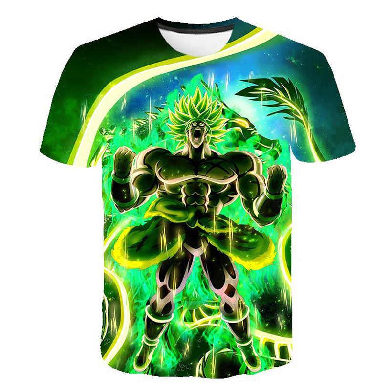 Новая мода Dragon Ball Z футболки мужские летние 3D принт Супер Саян Гоку черный Zamasu Vegeta Dragon Ball Повседневная футболка Топы