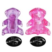 Dildo Vibrating Women Butterfly Bear Vibrator G-Spot Silicone Massager Sex Toy