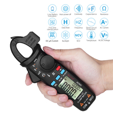 KKMOON Mini Digital AC Clamp Meter True RMS Auto Range 0.001A Current Multimeter Hz Temp Ohm uF V-alert Live Check