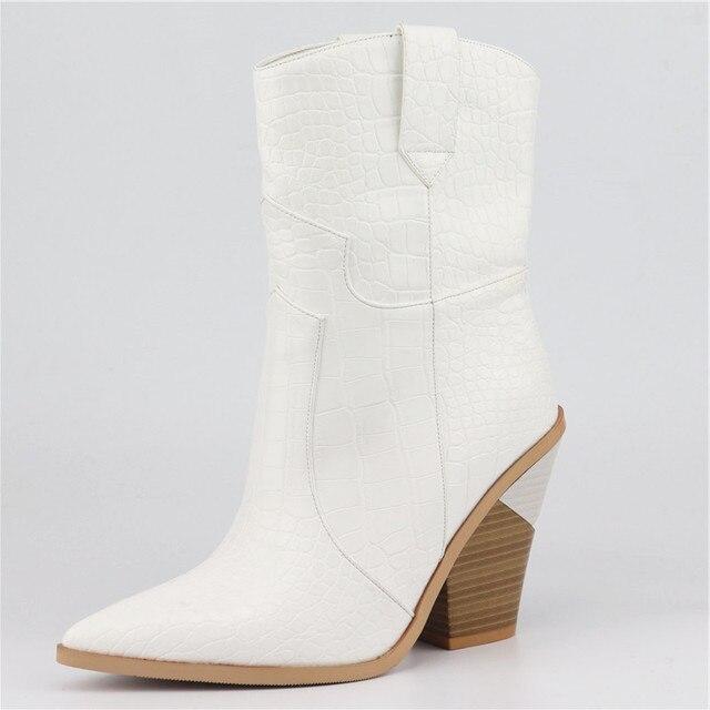MORAZORA Bırak gemi Marka kadın çizmeler sivri burun takozlar ayakkabı sonbahar kış çizmeler kısa bayanlar Batı yarım çizmeler kadınlar için