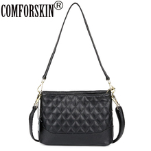 COMFORSKIN Brand Famous Top Quality Luxury Handbag Geometric Womens Messenger Bags High Capacity Women Leather Shoulder