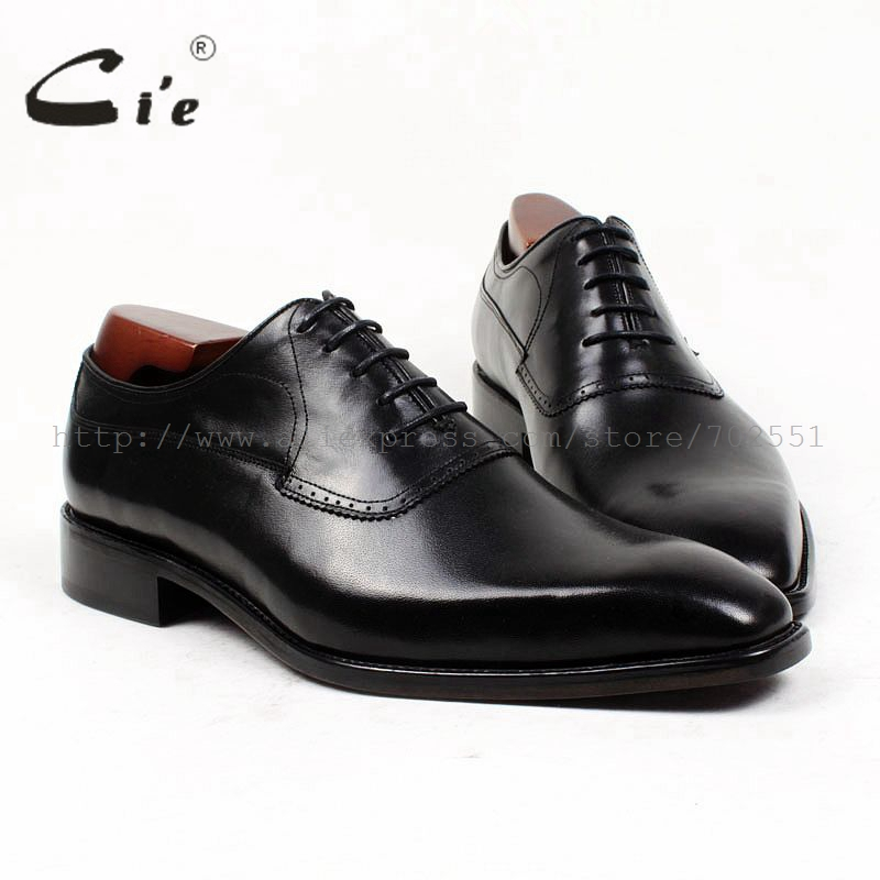 cie square plain toe bespoke men leather shoe custom handmade pure genuine calf leather upper inner outsole men dress shoe OX400 cie square plain toe black wine handmade pure genuine calf leather outsole breathable men s dress oxford bespoke men shoe ox407