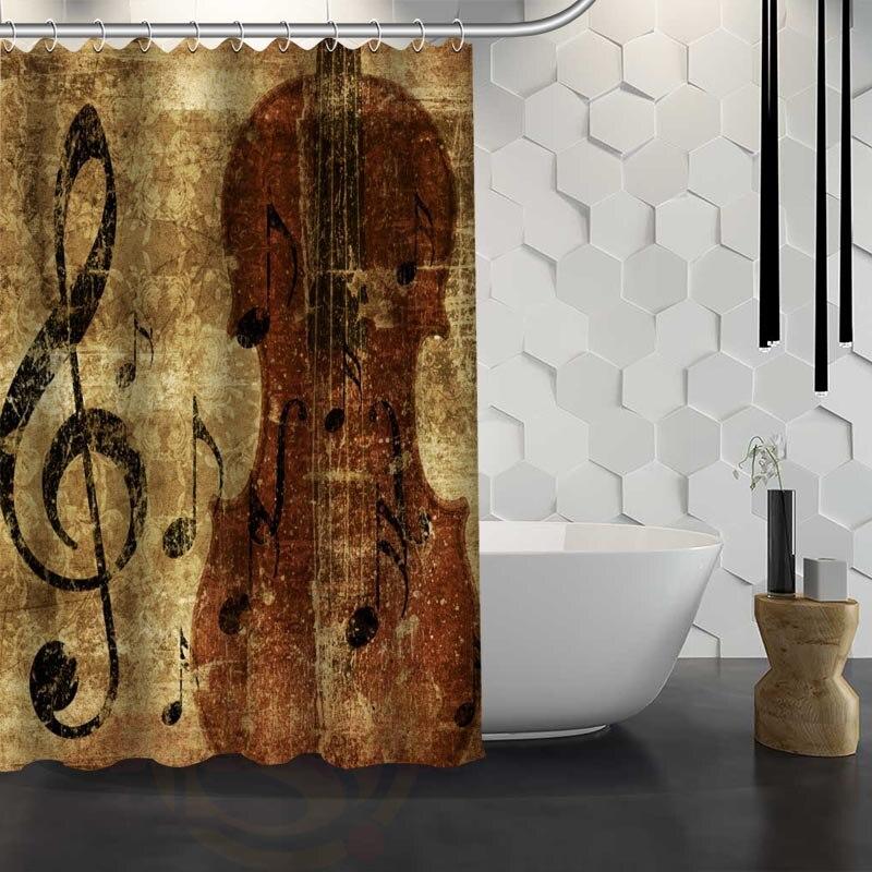 Custom Classic music symbols Shower Curtain Waterproof Fabric Shower Curtain for Bathroom WJY1.17