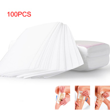 Hot 100 Pcs/Set Depilatory Papers Nonwoven Cloth For Face Neck Arm Leg Body Hair Removal Wax Paper Beauty Tools High Quality wyt