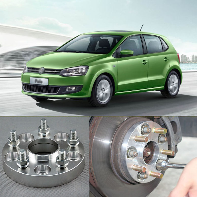 4pcs New Billet 5 Lug 14*1.5 Studs Wheel Spacers Adapters For VW Polo 2001-2018/Bora 1998-2005/Golf 1997-2003/Beetle 2004-2010 4pcs new billet 5 lug 14 1 5 studs wheel spacers adapters for volkswagen touareg