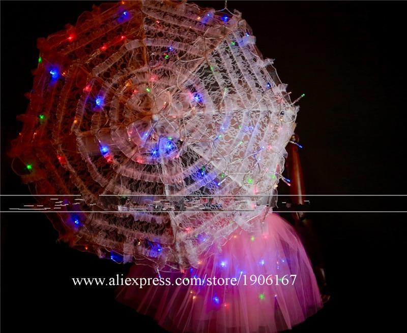 White Valentine\'s Day LED luminous wedding design gogo female songs ds hundred DJ suit costumes02