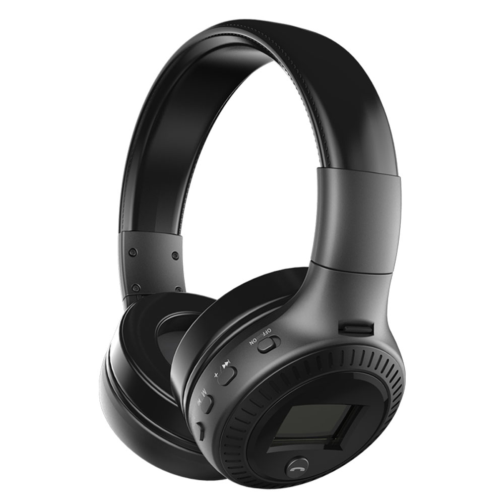 Bluetooth Headphones Wireless headsets HI FI Bass Stereo Foldable Portable Headset with Microphone LCD Display FM Radio TF Card zealot b17 hi fi stereo foldable wireless bluetooth4 0 headphones hands free headset with mic fm radio micro sd mp3 player