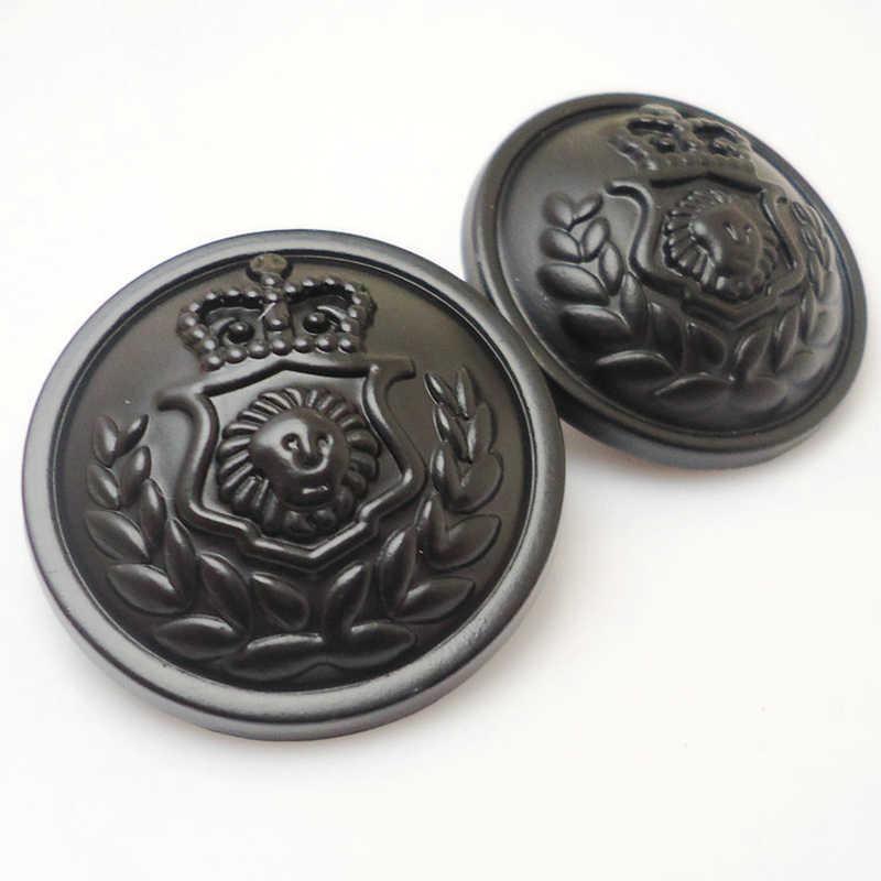 Аксессуары для одежды винтажный британский стиль костюм пуговицы металлические пуговицы черный свитер рельефные кнопки 15 мм и 20 мм и 25 мм 100 шт/партия
