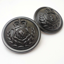Clothing accessories vintage British style suit buttons metal black sweater embossed 15mm&20mm&25mm 100 pcs/lot