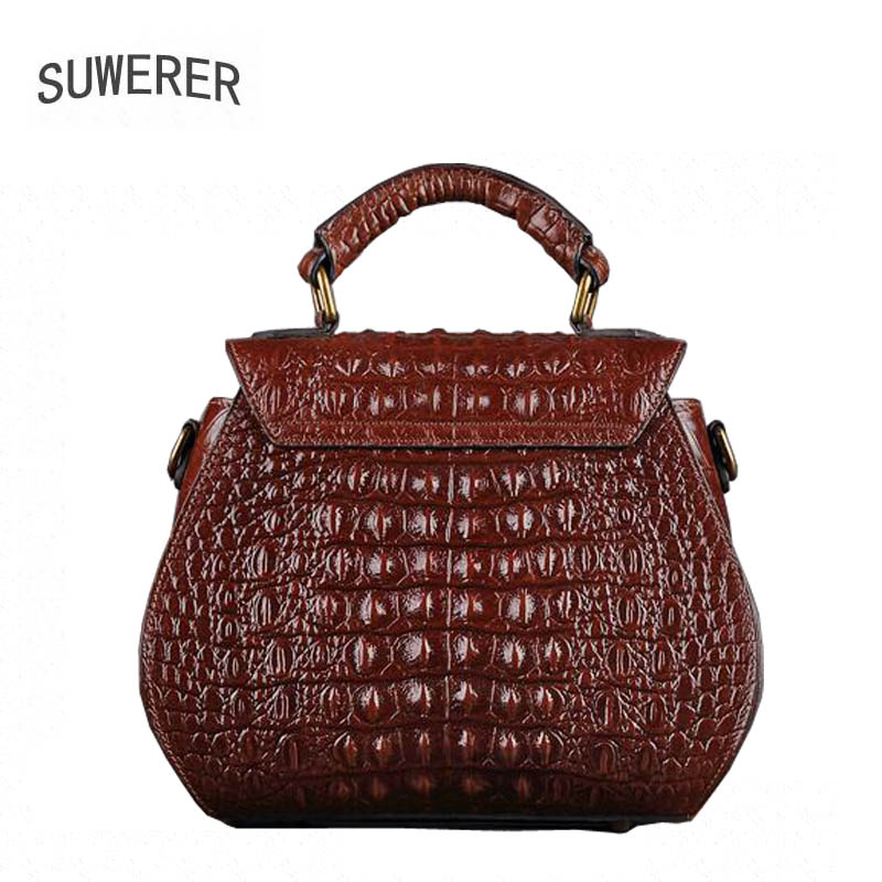 Genuine Leather Women s handbags Trend crocodile pattern small square bag  Fashion handbag Shoulder bag Messenger bag on Aliexpress.com   Alibaba Group 61d80a5fe0