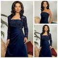 Frete grátis Best Selling cetim Lace azul Royal vestido mãe