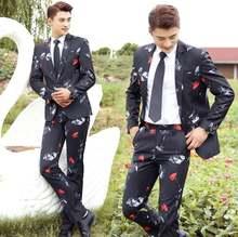 Черная одежда мужские облегающие костюмы дизайнерские homme