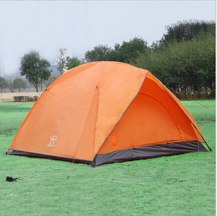 Pop up Tent Outdoor Camping Tent 3 Person 3000d Oxford Fabric Double Layer Seal Travel Hiking Tents Beach Nature hike Tents 210d oxford cloth outdoor camping tent special design tent double layer camping hiking tents for family camping travel