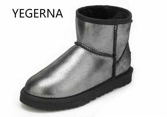 2016 Hot Sale Women  Australia Snow Boots Fashion Ankle Boots 100% Genuine Sheepskin Snow Boots Warm Winter Boots 2017 sales of the most popular hot winter boots women ug australia boots women slip warm women s boots in the snow size 34 44