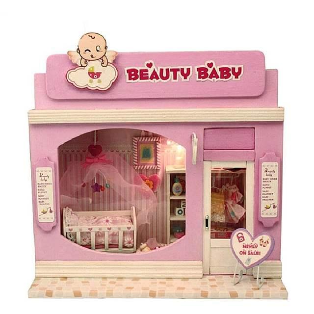 Online Shop Diy Wooden Miniatura Doll House Room Box Handmade 3d