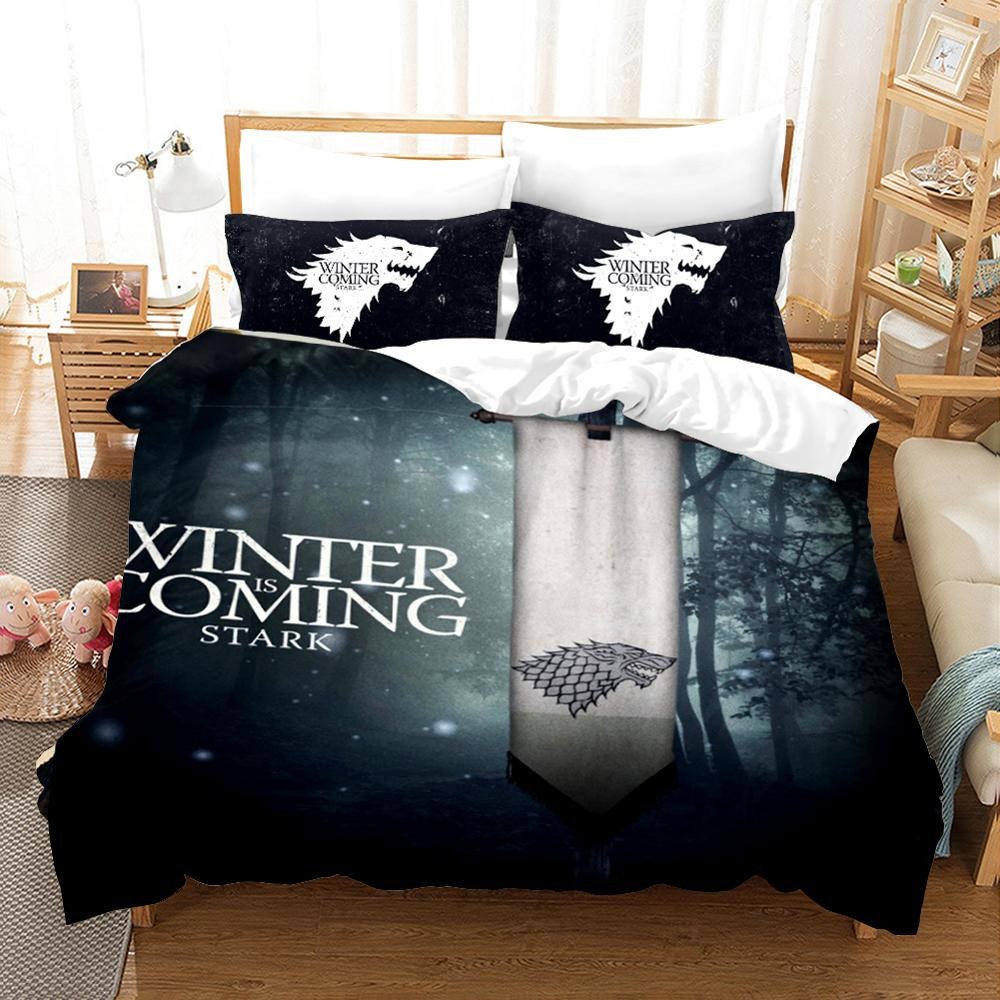 Game Of Thrones Bedding Set 3D Print Daenerys Targaryen Duvet Cover Set Twin Full Queen Size Bed Linen Set Pillowcase Bedclothes