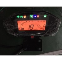 199KM/H Motorcycle Adjustable Tachometer Speedometer LCD Digital Odometer With Sensor With Bracket Modified For ATV