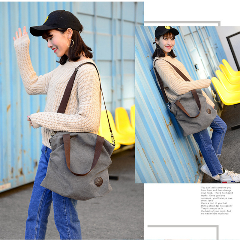 ledani bolsas casuais mulheres bolsa Estilo : Women's Casual Canvas Handbag Bags