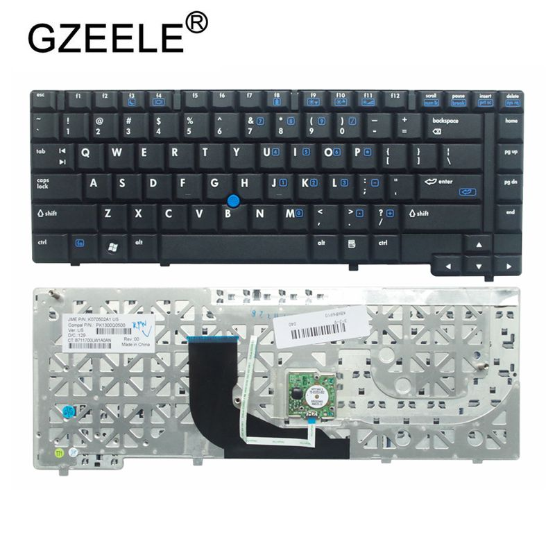 GZEELE New English Laptop Keyboard For HP 6910P 6910 6910B US Layout Black