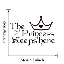 The Princess Sleeps Here Printed Wall Sticker