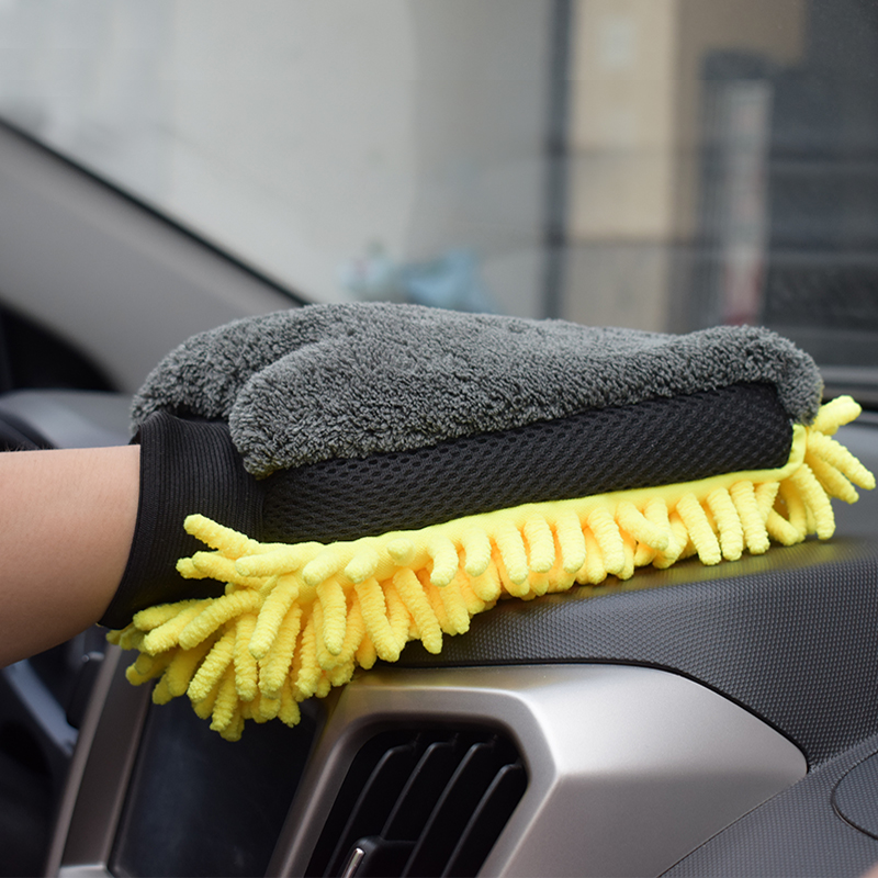 1pcs Microfiber Car Wash Gloves Car Cleaning Tool Wheel Brush Multi-function Cleaning Brush Detailing