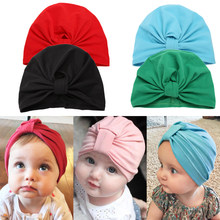 Baby Hat Newborn Infant Autumn Winter Warm Hat Boys Girls Soft Cap Lovely Cotton Knitted Bow Hat Beanie 0 to 3 Years(China)