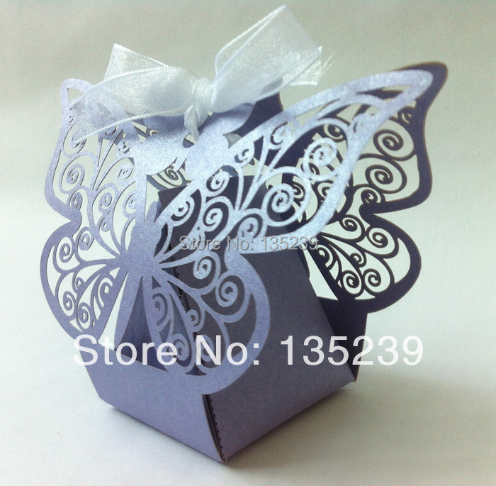 Light Purple Erfly Candy Box Laser Cut Wedding Favors Bo Baby Shower Party Bag Color Can Be Personalized Diy In Gift Bags Wring Supplies